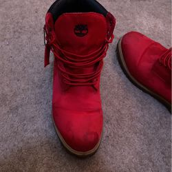 Red camo timberland boots for Sale in Las Vegas,  NV