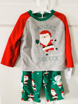 New 12M Carters Just For You Santa's Sidekick 2 piece Pajama Set(pick up only) for Sale in Springfield, VA