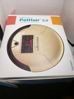 bObsweep PetHair Robotic Vacuum Cleaner and Mop in Champagne Open box new selling for only $140.00. for Sale in Long Beach, CA