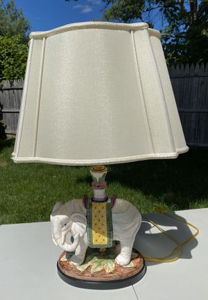 Elephant Lamp With Shade for Sale in Shrewsbury, MA