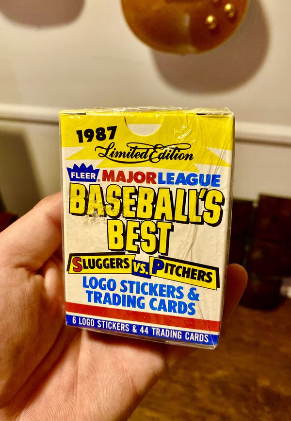 Cool 😎 🤙🏼!! SEALED 1987 Fleer MLB Baseball Cards + Stickers! Low price!