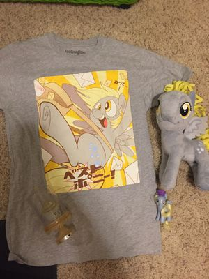 MLP My Little Pony Derpy Hooves Ditzy Doo LOT Shirt Clothing Plushie Funko Cupcake Figure Japanese Figurine Trading Card for Sale in Gig Harbor, WA