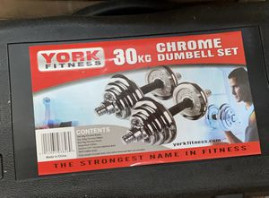 30kg 66lb adjustable chrome iron dumbbells for Sale in Ontario, CA