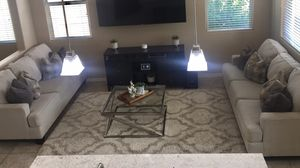 Set of 2 Large Sofas - Coffee Table and TV Console also available for purchase separately for Sale in Goodyear, AZ