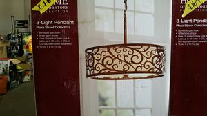 Home Decorators Collection Carousel 3-Light Burnished Gold Pendant with Frosted Glass Diffuser for Sale in Phoenix, AZ