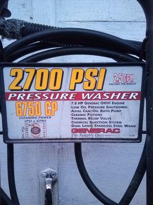 GENERAC 2700 PSI 7.8HP PRESSURE WASHER for Sale in Modesto, CA