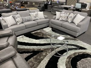 Grey American Made Sofa + Loveseat for Sale in Fresno, CA