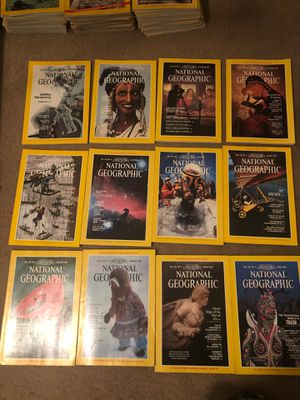 National Geographic Magazines 1983 (all 12) for Sale in Winston-Salem, NC