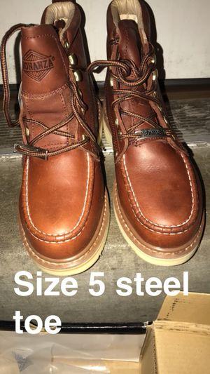 Bonanza work boots steel toe size 5 for Sale in UT, US