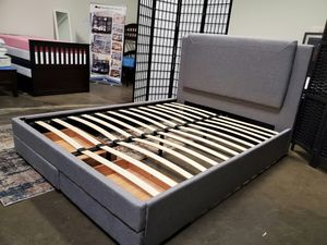 Full Size Bed Frame with 2 Drawers for Sale in Fountain Valley, CA