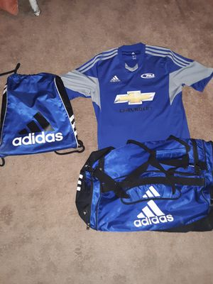 Addidas Gym Bags & Chevrolet Soccer Jersey for Sale in Saint Charles, MO