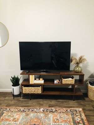 Mid century modern wooden tv stand bookshelf for Sale in Vancouver, WA