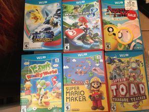 Nintendo Wii U games (reasonable offers please) for Sale in Stuart, FL