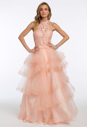 CAMILLE LA VIE blush peach tulle quinceanera dress sweet 16 gown size 2 for Sale in Miami, FL