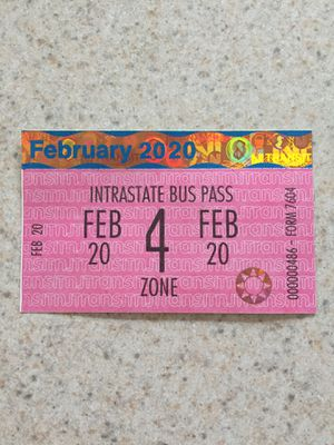 February 4 zone monthly buss pass for Sale in Hammonton, NJ