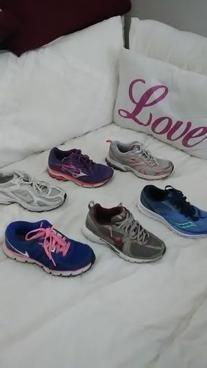 Running shoes size between 6.5 to 7 all very comfy for Sale in Chino Hills, CA