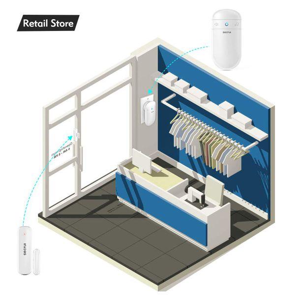 Door Chime, 500ft Operating Range 52 Chimes Adjustable Volume with Mute Mode LED Indicators 1 Plug-in Receiver 1 Magnetic Sensor