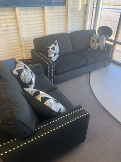 Brand New Black Nailhead Sofa and Loveseat for Sale in Maryland Heights,  MO