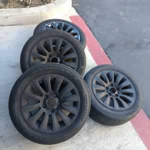 BMW 3 series 16in blacked out rims with tires. for Sale in San Marcos, CA