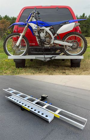 New $110 Aluminum Foldable Motorcycle Loading Ramp, Scooter, Wheel Chair, Motorbike (Max 450 lbs) for Sale in South El Monte, CA