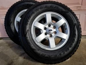 FORD F150 F250 EXPEFITION,EXPLORER All terrain tires with RIMS almost new for Sale in Frostproof, FL