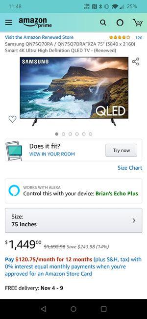 """Samsung 75"""" Q70 TV for Sale in Cocoa, FL"""