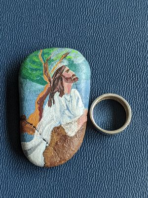 By the beach stone art: Gethsemane for Sale in Junction City, OR