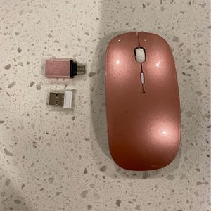 Rechargeable Wireless Mouse for MacBook MacBook Pro Air Laptop Desktop Computer Windows iMac Mac (Rose Gold) for Sale in Monrovia, MD