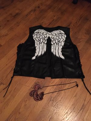 Daryl Dixon's vest and zombie ear necklace for Sale in Roanoke, VA