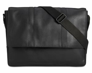NEW Calvin Klein Men's Faux-Leather Messenger Bag School Office Black Stlylish for Sale in Moreno Valley, CA