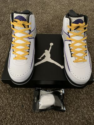 Jordan 2 retro lakers color size 9.5 for Sale in View Park-Windsor Hills, CA