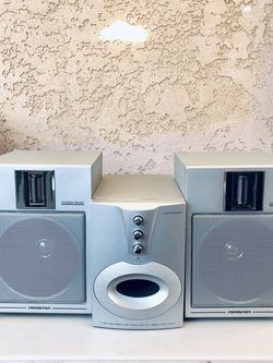 HOME SPEAKER SYSTEMS TEMPERED SUBWOOFER KS250S nexgen ACOUSTIC TECHNOLOGY AND 2 DYNAMIC SOUND SPEAKERS 8Ohms SOUND DESIGN 96dB:W- IN GOOD CONDITION for Sale in Garden Grove,  CA