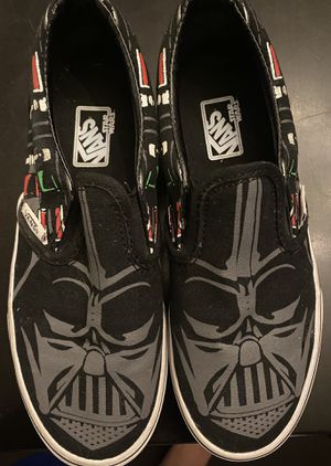 Star Wars Youth Vans Slip-On Shoes Darth Vader Size 2 for Sale in Mont Belvieu, TX