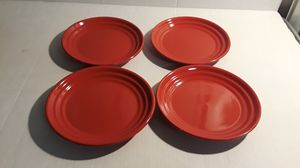 HOME RED RIBBED STONEWARE SALAD PLATES for Sale in Decatur, GA