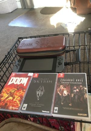Less than a year old switch need money for bills don't want to sell but have to resident evil sold for Sale in Aberdeen, WA