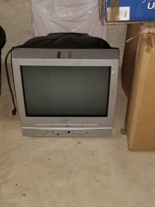 Tv with DVD player inside