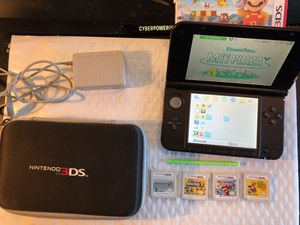 Nintendo 3DS XL Red/Black Handheld System 4 game bundle mario Collection Super Mario 2 Mario Kart 7 Super Mario Maker 3D Mario Party Nintendo 3DS for Sale in Campbell, OH