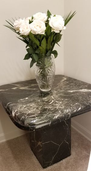 Italian Real Marble End Tables - set of 2 for Sale in Annandale, VA