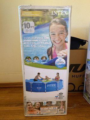Intex 10 ft x 30 in Metal Frame Pool Set w/ Pump *Brand New* for Sale in Lakewood, CA