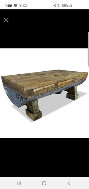 Barrel and wood coffee table for Sale in Georgetown, KY