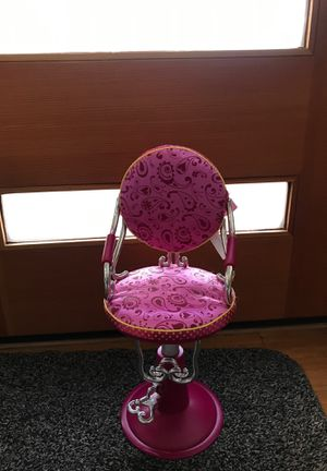 Doll salon chair with hair accessories for Sale in Seattle, WA
