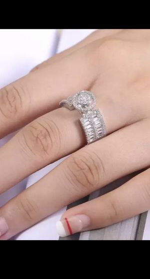New Elegant Proposal Ring For Women With Micro Pave - Wedding Engagement Ring- Stamped 925 Sterling Silver for Sale in Miami, FL