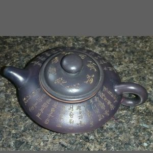 Vintage Chinese YIXING ZISHA Handmade Clay Signed Teapot for Sale in Edison, NJ