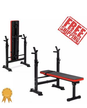 Adjustable Press Weight Bench Barbell Rack Exercise Workout Fitness Gym Folding (Free Shipping Via PayPal Invoice) for Sale in Las Vegas, NV