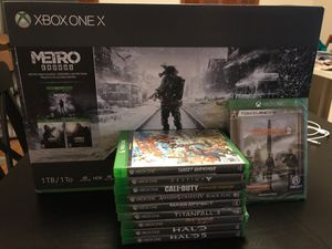 Xbox one x 1 TB metro exodus Bundle + shooters bundle! Endless shooters! Sealed and brand new! for Sale in Portland, OR