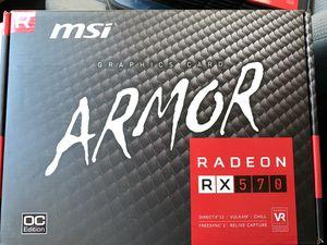 MSI Armor Radeon RX 570 4GB GDDR5 for Sale in Santa Ana, CA