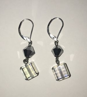 Premier Designs Hematite & Crystal Cube Earrings for Sale in Kissimmee, FL