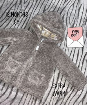Baby cozy zipper sweater 12 months for Sale in Downey, CA