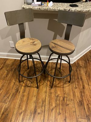 Set of 2 bar stools for Sale in Greenville, NC