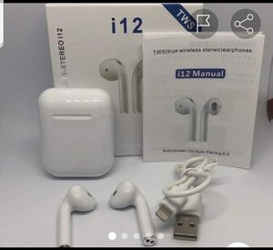 Auriculares inhalambricos. Is12. Bluetooh. Apple.androo for Sale in Miami, FL